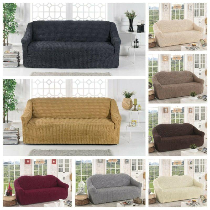 oder 3er Couch Sofa Bezug 2er 7 Farbe Stretch Sofabezug Sofahusse 1er